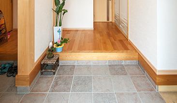 玄関・石床洗浄
